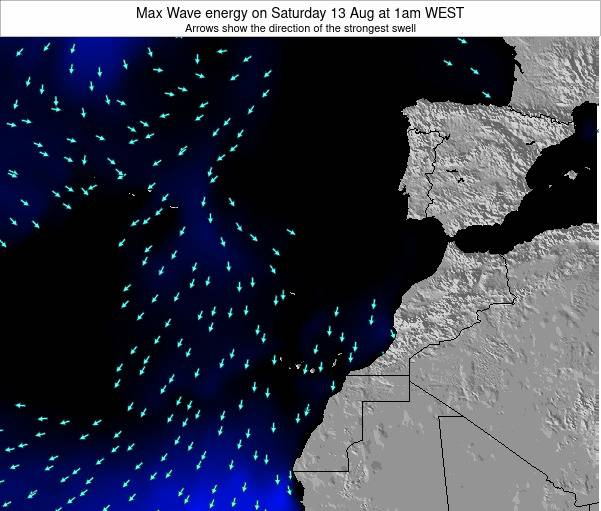 Western Sahara Max Wave energy on Saturday 02 Aug at 7pm WEST