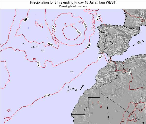 Canary Islands, Spain Precipitation for 3 hrs ending Friday 24 May at 1am WEST