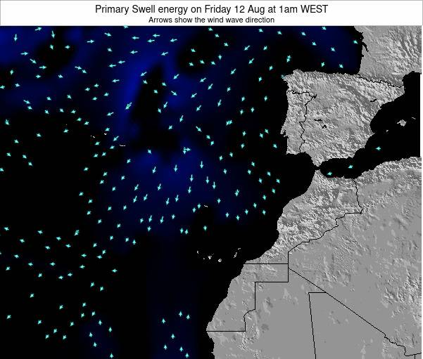 Western Sahara Primary Swell energy on Thursday 27 Oct at 1pm WEST