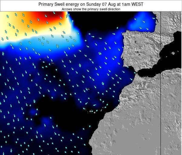 Western Sahara Primary Swell energy on Friday 25 Jul at 7pm WEST