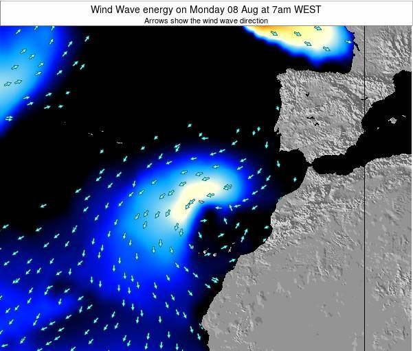 Canary Islands, Spain Wind Wave energy on Wednesday 29 May at 7pm WEST