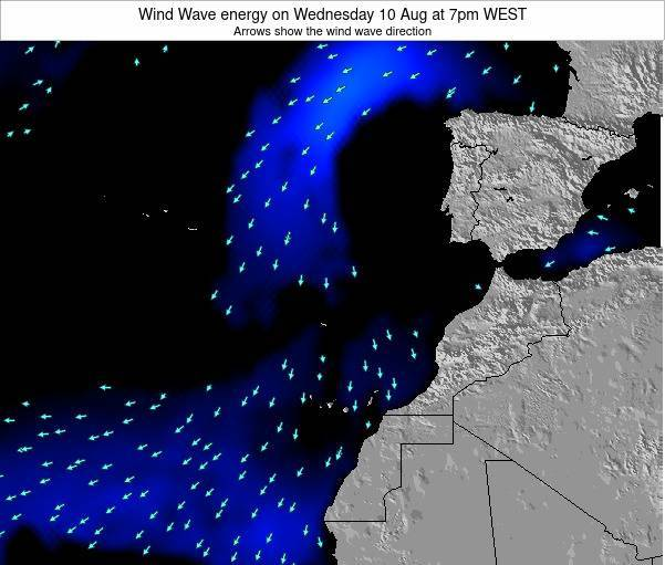 Canary Islands, Spain Wind Wave energy on Thursday 24 Jul at 7pm WEST