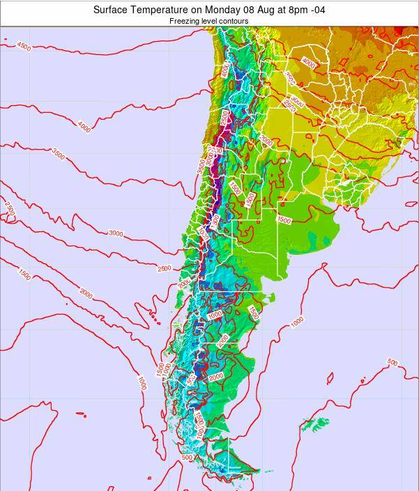 Chile Surface Temperature on Wednesday 22 May at 2pm CLT