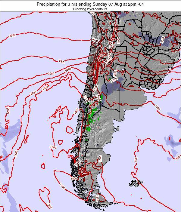 Chile Precipitation for 3 hrs ending Saturday 29 Sep at 9pm CLT map