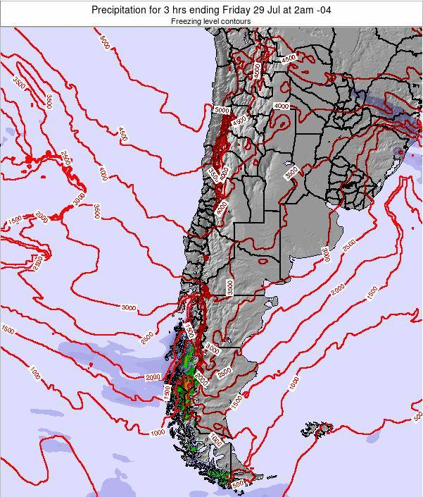 Chile Precipitation for 3 hrs ending Friday 01 Jun at 3pm CLT map