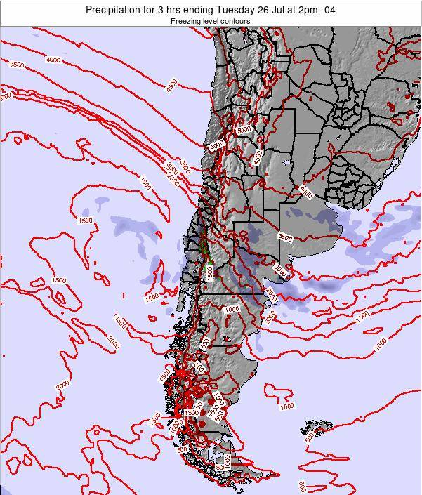 Chile Precipitation for 3 hrs ending Sunday 27 May at 3am CLT map