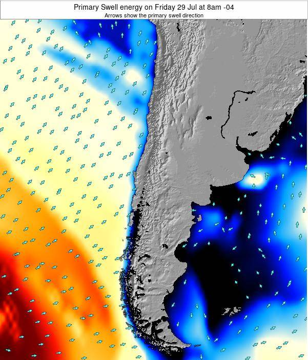 Chile Primary Swell energy on Friday 27 Apr at 3pm CLT map