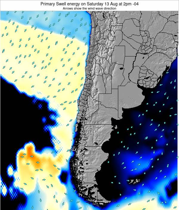 Chile Primary Swell energy on Sunday 27 Apr at 3am CLST