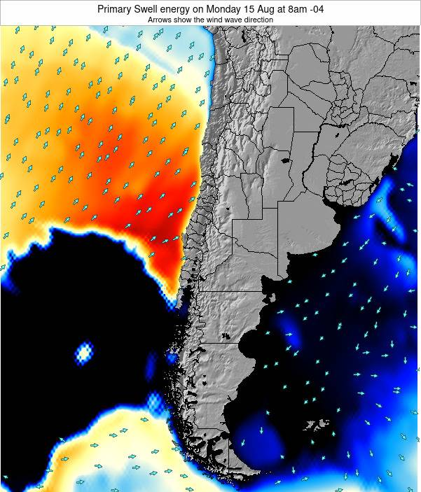 Chile Primary Swell energy on Saturday 01 Apr at 3am CLST