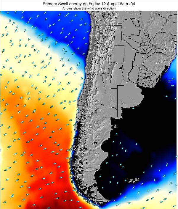 Chile Primary Swell energy on Thursday 28 May at 2pm CLT
