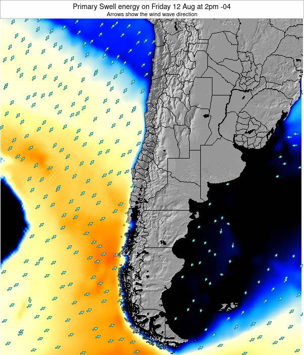 Chile Primary Swell energy on Thursday 05 May at 9am CLT