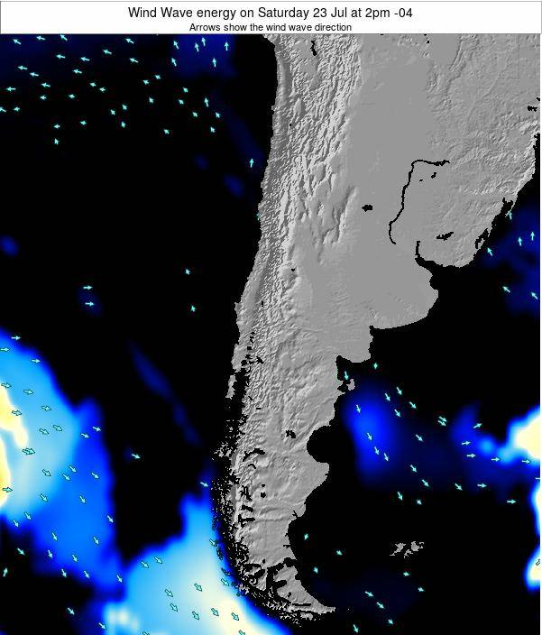 Chile Wind Wave energy on Wednesday 22 May at 2am CLT