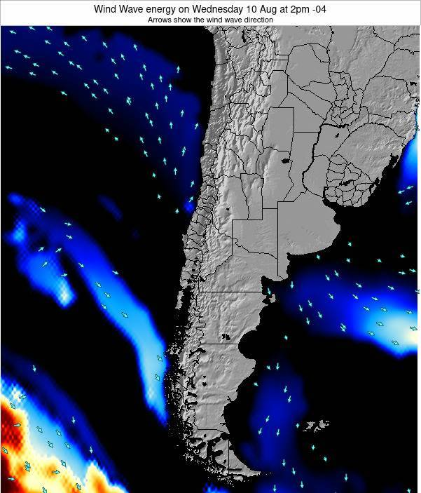Chile Wind Wave energy on Friday 14 Mar at 3am CLST
