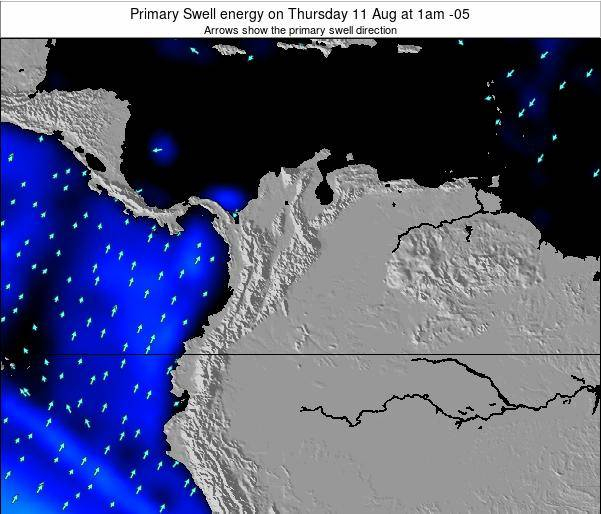 Colombia Primary Swell energy on Wednesday 03 Jun at 1am COT