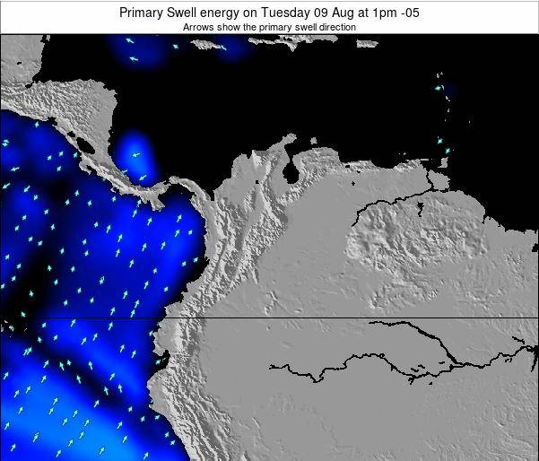 Colombia Primary Swell energy on Saturday 14 Dec at 1am COT