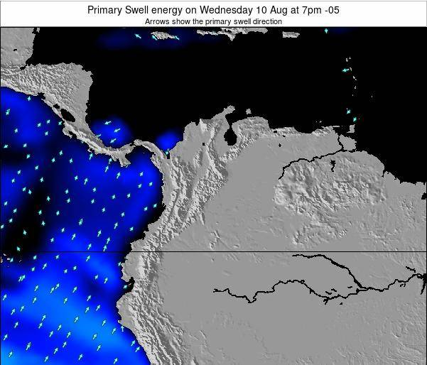 Colombia Primary Swell energy on Sunday 23 Jun at 7pm COT