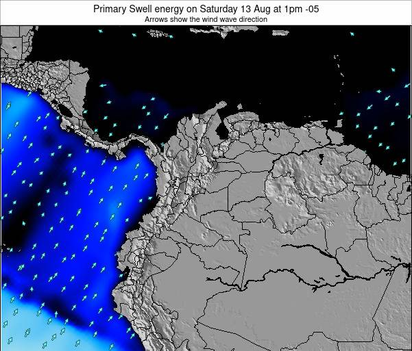 Colombia Primary Swell energy on Monday 28 Jul at 1pm COT