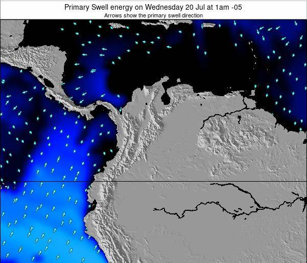 Colombia Primary Swell energy on Tuesday 18 Jun at 7am COT