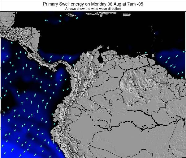 Colombia Primary Swell energy on Monday 09 Dec at 1am COT