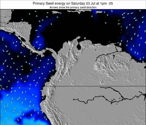 Colombia Primary Swell energy on Wednesday 22 May at 1am COT