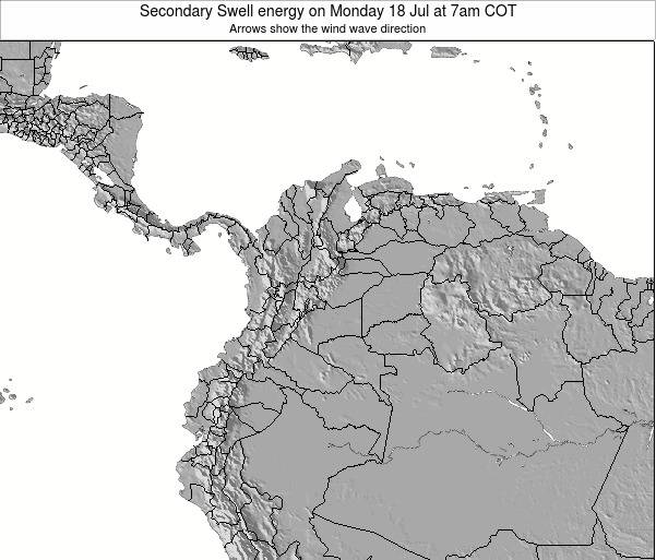 Colombia Secondary Swell energy on Saturday 26 Jul at 7pm COT