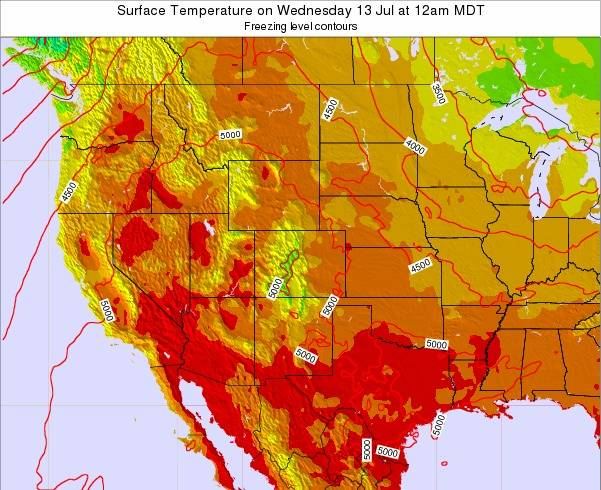 New-Mexico Surface Temperature on Monday 17 Dec at 5am MST map