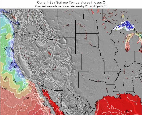 New-Mexico Sea Temperature Map