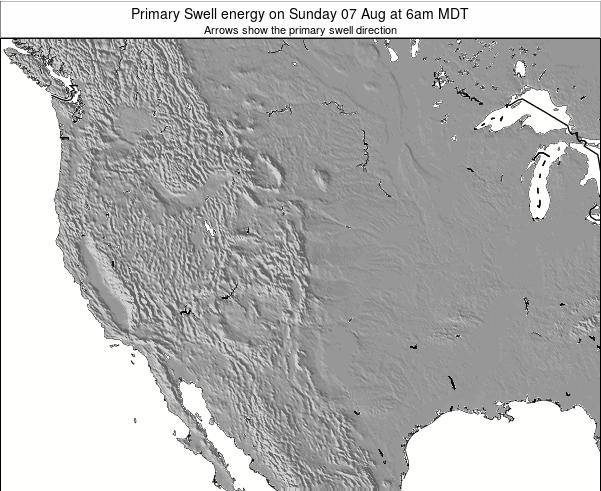 New-Mexico Primary Swell energy on Sunday 19 May at 12pm MDT map