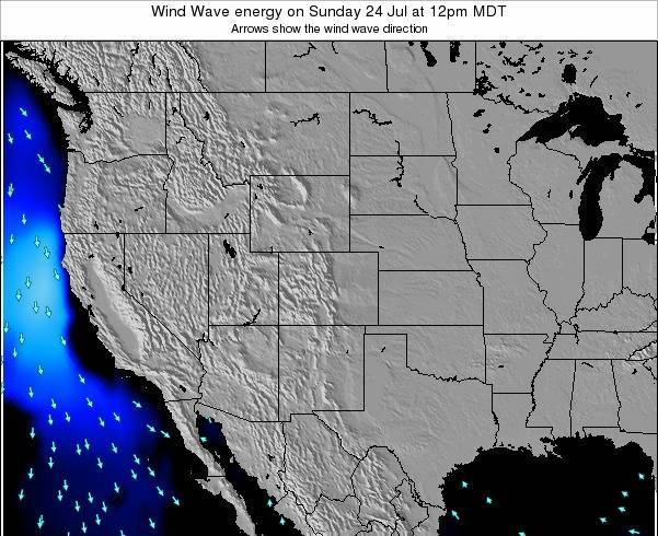 New-Mexico Wind Wave energy on Saturday 20 Apr at 6am MDT map