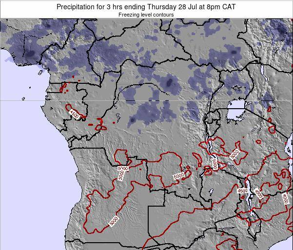 Congo Precipitation for 3 hrs ending Wednesday 29 May at 2am CAT