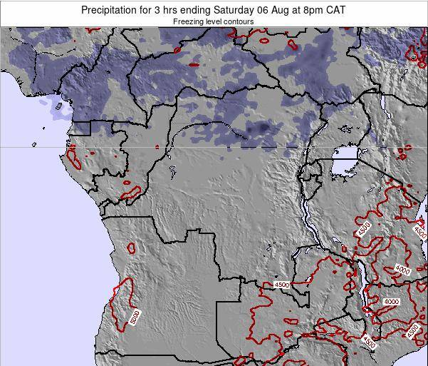Congo Precipitation for 3 hrs ending Tuesday 21 Feb at 8am CAT