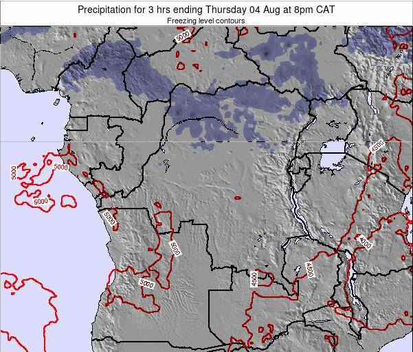 Congo Precipitation for 3 hrs ending Thursday 23 Mar at 2am CAT
