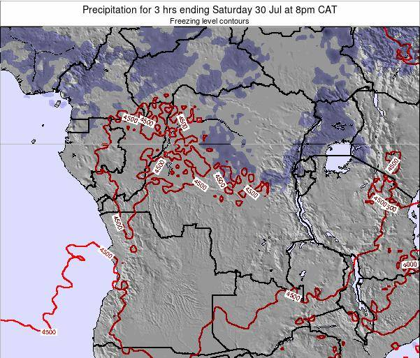 Congo Precipitation for 3 hrs ending Sunday 28 Aug at 2am CAT