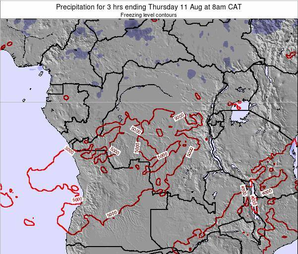 Congo Precipitation for 3 hrs ending Sunday 08 Mar at 2pm CAT