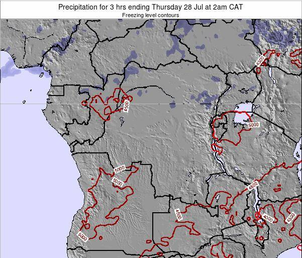 Congo Precipitation for 3 hrs ending Sunday 03 Aug at 8pm CAT
