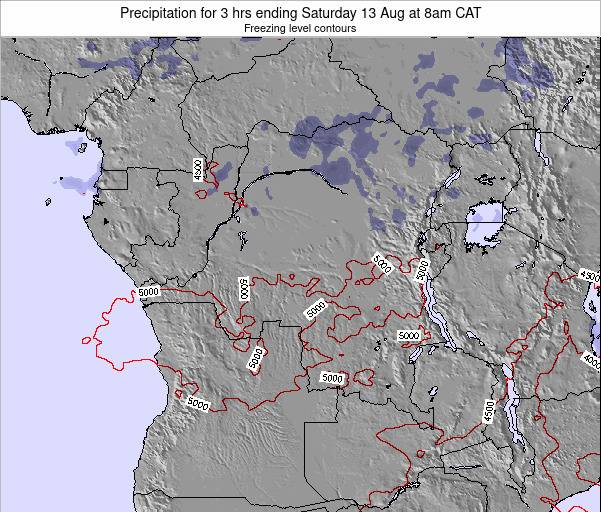 Congo Precipitation for 3 hrs ending Friday 09 Dec at 8am CAT
