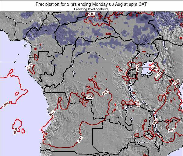 Congo Precipitation for 3 hrs ending Wednesday 30 Jul at 8pm CAT