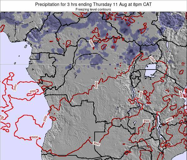 Congo Precipitation for 3 hrs ending Friday 24 May at 8pm CAT