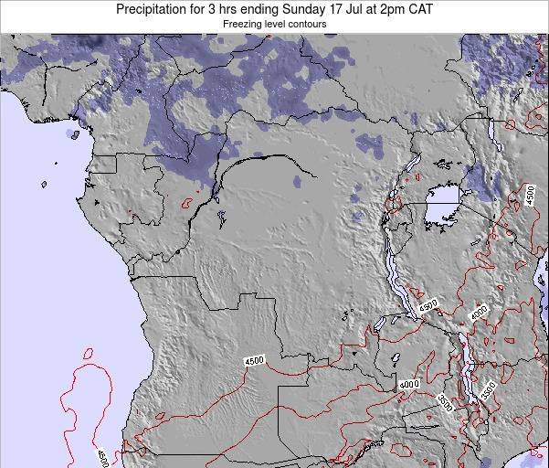 Congo Precipitation for 3 hrs ending Monday 25 May at 2pm CAT