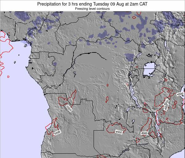 Congo Precipitation for 3 hrs ending Wednesday 03 Sep at 8am CAT