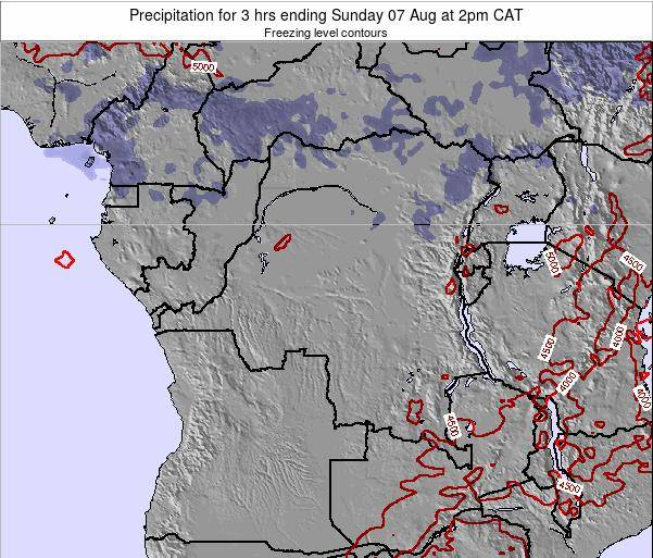 Congo Precipitation for 3 hrs ending Wednesday 22 May at 8pm CAT