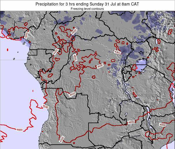 Congo Precipitation for 3 hrs ending Sunday 14 Feb at 2pm CAT