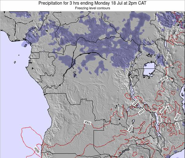 Congo Precipitation for 3 hrs ending Tuesday 11 Mar at 2pm CAT