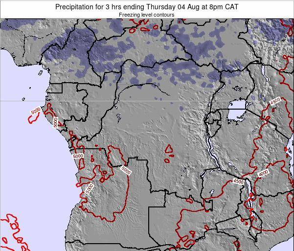 Congo Precipitation for 3 hrs ending Thursday 24 Apr at 8am CAT