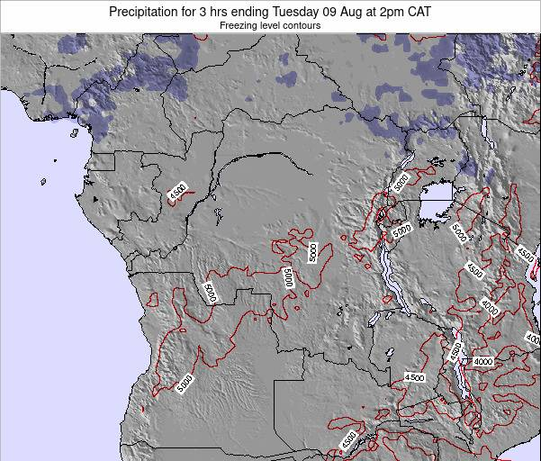 Congo Precipitation for 3 hrs ending Monday 20 May at 8am CAT