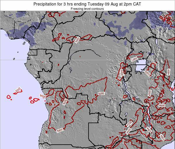 Congo Precipitation for 3 hrs ending Wednesday 22 Oct at 8am CAT