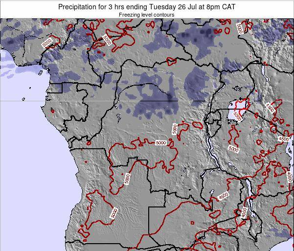 Congo Precipitation for 3 hrs ending Thursday 29 Jan at 2am CAT