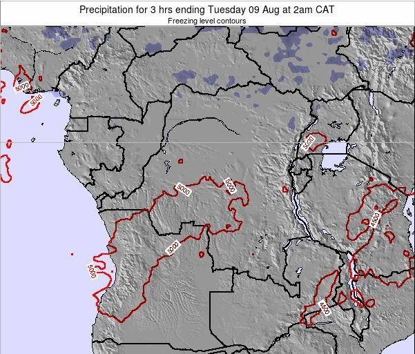 Congo Precipitation for 3 hrs ending Saturday 26 Apr at 2am CAT