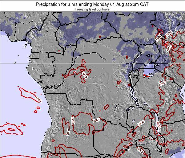 Congo Precipitation for 3 hrs ending Monday 09 Dec at 8pm CAT
