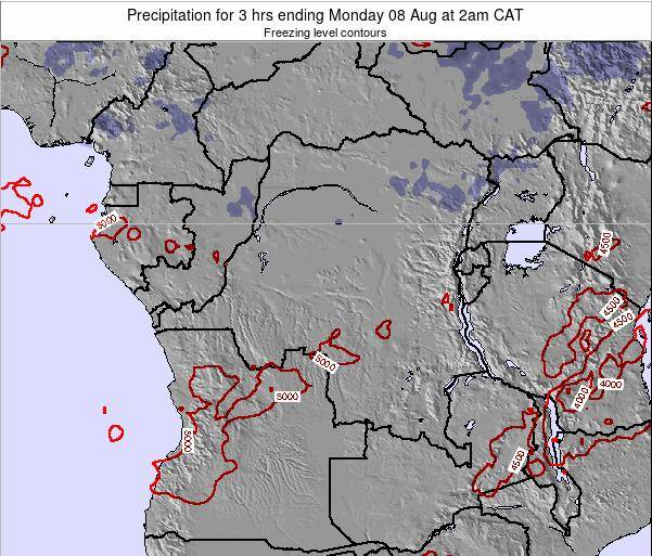 Congo Precipitation for 3 hrs ending Friday 01 Aug at 8am CAT